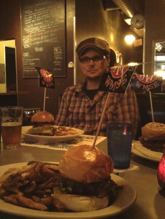 WMSE Development Director Justin Shoman at Comet Cafe