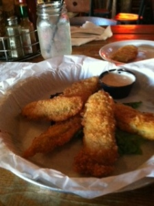 The veg group: deep fried pickles