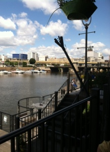 The view from Milwaukee Ale House deck